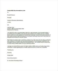 12 best letter of recommendation images on pinterest calligraphy sample mba recommendation letter 6 examples in word pdf expocarfo Images