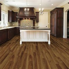 """Added this Allure Vinyl Plank DIY Flooring to my Wishlist - It's """"High Point Chestnut"""". Available exclusively at The Home Depot. Click the Pic to Shop it! #AllureFlooring"""