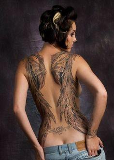 her own wings...