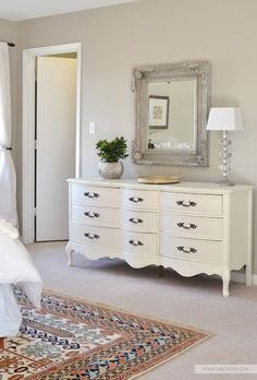 10 Secrets for Buying The Best Furniture on Craigslist Love the way she has mirror over, etc.