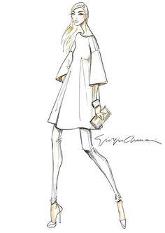 Fashion illustration - fashion sketch for Giorgio Armani