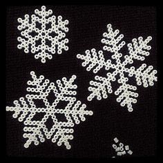 Snowflakes perler beads by sara_hjalmarson