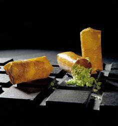 cubilete de mango, pistacho y piel de yuzu. El bulli