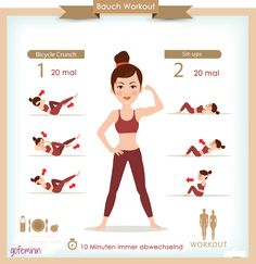 Speed Workout für einen flachen, straffen Bauch! Noch mehr Tipps für einen sexy Bauch findest du auf www.gofeminin.de/abnehmen/alltagstipps-flacher-bauch-s1718067.html