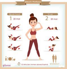 Speed Workout für einen flachen, straffen Bauch!
