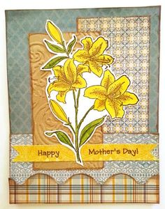 images stampendous star lillies | Mother's Day Lily by tanyanjazz - Cards and Paper Crafts at ...