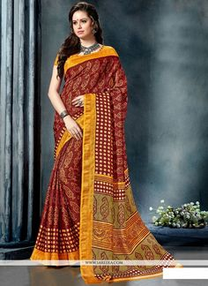 Buy stylish and trendy saree, from our wide range of saree online. Shop this modernistic multi colour printed saree for festival and party - Saree