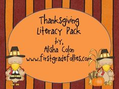 I just finished a Thanksgiving literacy pack!     This literacy pack includes:    16 Thanksgiving-themed word wall cards  3 Thanksgiving acrostic poem frames   (color and b)  3 Thanksgiving writing prompts   (color, b, and no-graphics versions)  6 Thanksgiving-themed writing papers  (color and b)  3 Thanksgiving Venn diagrams  2 Thanksgiving are-have-can graphic organizers (color and b)  Thanksgiving Word Scramble