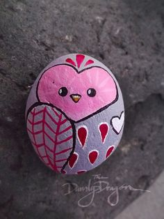 Hey, I found this really awesome Etsy listing at https://www.etsy.com/listing/220625968/owl-painted-rock-in-light-grey-reds-and