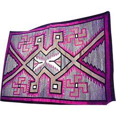 """Vintage Navajo Blanket Native American 84"""" X 58"""" Rug Weaving Navajo circa 1915"""