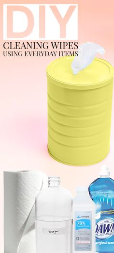 DIY Cleaning Wipes: If you have a family with kids, you know that Lysol wipes… Diy Cleaning Wipes, Homemade Cleaning Products, Cleaning Recipes, Natural Cleaning Products, Cleaning Hacks, Cleaning Supplies, Household Products, Diy Cleaners, Cleaners Homemade
