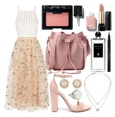 """""""celestial"""" by isabellaobrien15 ❤ liked on Polyvore featuring Valentino, Topshop, Steve Madden, NARS Cosmetics, Chanel, Lancôme, Serge Lutens, Stila, Kate Spade and Michael Kors"""