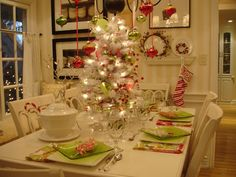 love the idea of a tree as the centerpiece