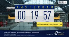 Eurostar Live, including social media updates in real time on their physical advertising boards across London and the South East