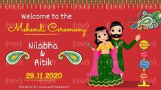 Elegant Wedding Invitations, Mehendi, Invite, Vibrant, Colorful, Photo And Video, Places, Poster, Gifts