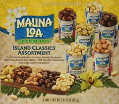Mauna Loa Macadamia Nuts Assorted Flavors, 4.5-Ounce Canisters (Pack of 6) ** Awesome deals at baking desserts recipes board