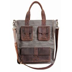 Great bag! Love the leather pockets!