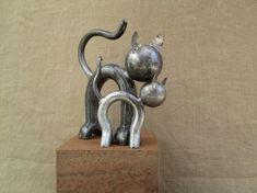 SCULPTURE outil chat métal animaux Animaux Métal - Chaton câlin