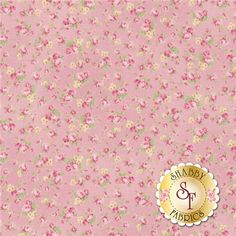 "RURU Bouquet RU2200-18B By Quilt Gate Fabrics: RURU Bouquet is a floral collection by Quilt Gate Fabrics. This fabric features an all over small rose ditsy on a pink background.           Width: 43""/44""Material: 100% CottonSwatch Size: 6"" x 6"""
