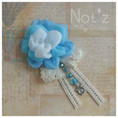 corsage , chiffon floewer brooch , code: SM1 , Order >> line: notzdesign / WA +6282174424949