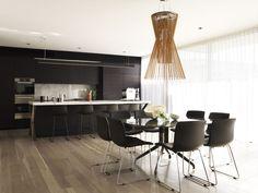 Spacious open-plan kitchen.