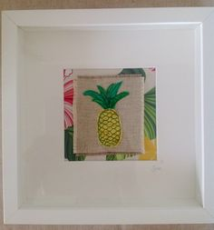 Machine embroidery pineapple.