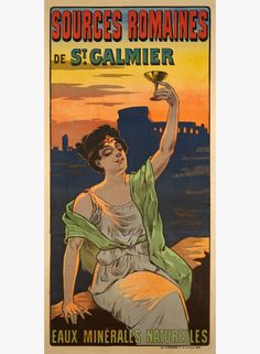 MISTI – Vintage poster – Large size poster for the St Galmier spring water, known by the Romans two thousands years ago. This classic poster from the turn of the century was depicted by Misti (Ferdinand Mifliez)