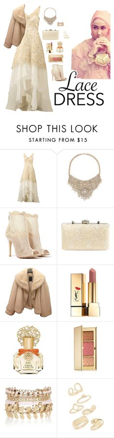 """""""Zee's 74th mix"""" by zzamila ❤ liked on Polyvore featuring Notte by Marchesa, Bebe, Chinese Laundry, Jessica McClintock, Christian Dior, Yves Saint Laurent, Vince Camuto, Estée Lauder, River Island and Topshop"""