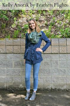 I am so proud of this rain jacket I made using the Kelly Anorak sewing pattern. It was so much work, but it was so worth it! Navy Waterproof Kelly Anorak // heatherhandmade.com