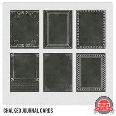 FREE chalked journal cards/mini art printables
