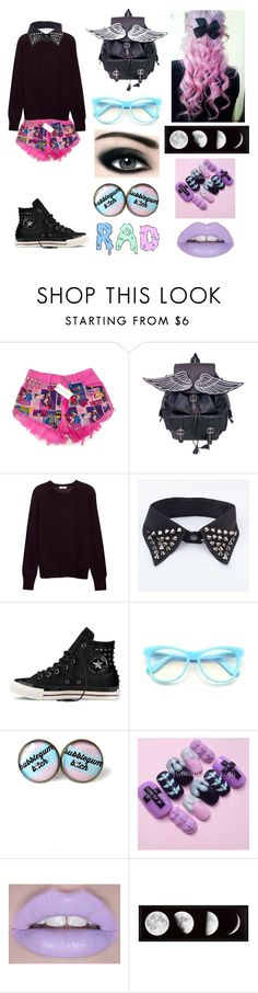 """This is trying to be pastel goth and failing"" by hemmocrush ❤ liked on Polyvore featuring Equipment, Converse, Wildfox, Max Factor and Lime Crime"