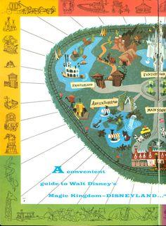 Disneyland brochure, 1964, Map, left side (2 of 3)