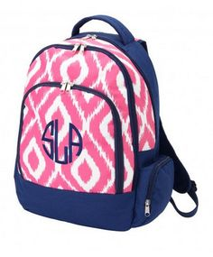 Backpack - Pink Ikat | Personalized Backpack | Monogrammed Backpack - Caroline And Company