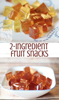 Healthy Fruit Snacks These simple, healthy homemade fruit snacks are made with only 2 ingredients and one of them is juice! You will not believe how quick and easy they are to make. More from my siteHealthy Homemade Fruit Snacks Recipe Baby Food Recipes, Snack Recipes, Camping Recipes, Healthy Recipes, Healthy Fruit Snacks, Simple Healthy Snacks, Quick And Easy Snacks, Gummy Fruit Snacks, Healthy Bedtime Snacks