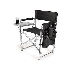 Picnic Time Portable Folding U0027Sports Chairu0027 Black