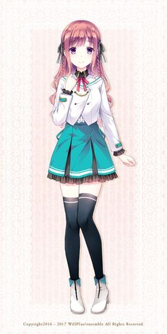 Anime Girl Pink, Cool Anime Girl, Anime School Girl, Pretty Anime Girl, Beautiful Anime Girl, Kawaii Anime Girl, Cute Anime Character, Cute Characters, Anime Characters