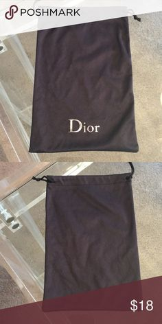 🎁DIOR DUST BAG 💯AUTHENTIC 🎁DIOR DUST BAG 💯AUTHENTIC. STUNNING AND STYLISH PERFECT FOR KEEPING YOUR ITEMS CLEAN AND SAFE. MEASURES 6 INCHES BY 9 INCHES Dior Bags
