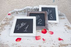Square framed chalkboards // Wall hanging signs // by LekaArt