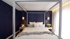 Winners by default: Dea and Darren's winning master bedroom.