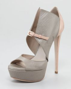 My personal favorite @Ruthie_davis shoe of all time! Monti Buckle-Front Bootie by Ruthie Davis at Neiman Marcus. Only 3 pairs left!!!