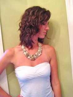 Vintage Statement Necklace in Bridal Blush Wedding by BrassBoheme, $132.00