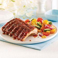 Côtes levées, sauce barbecue fumée au miel et aux fines herbes - Recettes - Cuisine et nutrition - Pratico Pratique