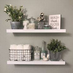 Related posts: 20 Small Master Bathroom Makeover Ideas with Clever Storage 35 Marvelous Farmhouse Bathroom Storage And Organization Ideas 48 Delicate Bathroom Design Ideas For Small Apartment On A Budget Bathroom Interior, Farmhouse Bathroom Decor, Bathrooms Remodel, Bathroom Shelves, Bathroom Storage Organization, Bathroom Decor, Bathroom Shelf Decor, Bathroom Design, Diy Bathroom Storage