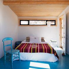 Une chambre design turquoise
