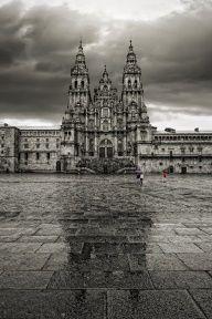 Plaza del Obradoiro. Catedral de Santiago de Compostela, Galicia, Spain.