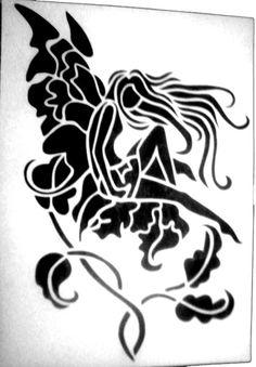 Flower fairy stencil by SHVEPSEG