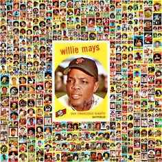 1959 Topps Baseball Cards Complete Set Collage. Sports Baseball, Baseball Players, Baseball Cards, Giants Players, Picture Collages, Willie Mays, Field Of Dreams, Just A Game, Sports Pictures