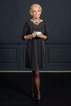 Barfota kjole svart