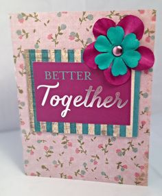 Better Together by JBRCards on Etsy Cute, handmade card.  Great to show someone special you care.