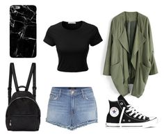 """normal days"" by jane-cxx ❤ liked on Polyvore featuring Chicwish, J Brand, Converse, STELLA McCARTNEY, LE3NO, Harper & Blake and idk"